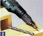 drilling hole by drill